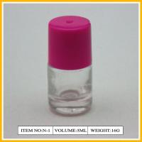 Wholesale 5ml Round Elegant Nail Polish Containers / Red Plastic Cap And Brush from china suppliers