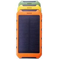 Wholesale Orange External Battery Power Bank Solar Cell High Performance With 2 USB Slot from china suppliers