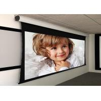 Wholesale Custom Large Electric Motorized Projector Screen With Aluminum Casing , Remote Control from china suppliers