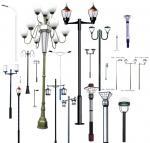 LED light  lamp pole, galvanized street lighting poles