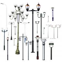 Quality LED light  lamp pole, galvanized street lighting poles for sale