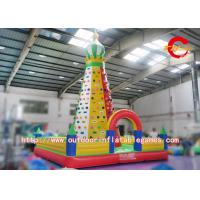 Wholesale Artificial Inflatable Rock Climbing Wall / Commercial Giant Inflatable Climbing Toys from china suppliers