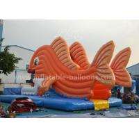 Wholesale Giant Goldfish Inflatable Water Slide Commercial With Bule Mat For Park from china suppliers
