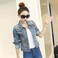 Wholesale Quick Dry Free Size Womens Cropped Denim Jacket Tailoring Slim Fit Casual Style from china suppliers