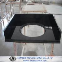 Wholesale Shanxi Black High Polished Granite Sink Countertops for Bathroom from china suppliers