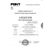 Xiamen Nifer Electronics Co.,LTD Certifications