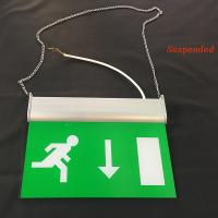 Wholesale Rechargeable Battery Powered Led Emergency Double Sided Exit Signs 110V - 127V from china suppliers