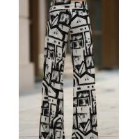 Wholesale Black And White Colors Womens High Waisted Pants Wide Leg Different Sizes from china suppliers