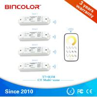 Wholesale Zhuhai Bincolor T7+R3M 4 zones CCT strip led controller double color led dimmer from china suppliers