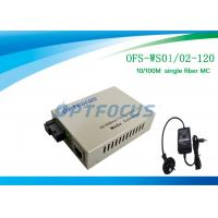 Wholesale Optical Media Converter 1310 / 1550 Nm Single Fiber SM SC 120KM from china suppliers