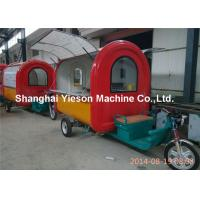 Wholesale Red And Yellow Outdoor Fast Food Cart For Snaking Mobile Caravan from china suppliers