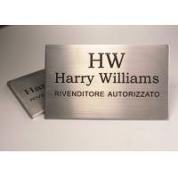 Wholesale Silver Custom Engraved Metal Name Plates For Doors Aluminum Surface Brushed from china suppliers