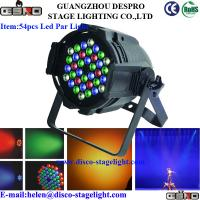 Wholesale 54pcs 1W / 3W LED Par Can Lights Music Concert Stage Light DMX 512 from china suppliers