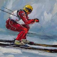 Wholesale Oil Painting-Ski from china suppliers