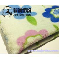Wholesale Custom solid or printing flower pattern flannel blanket or other blanket fabric for baby from china suppliers