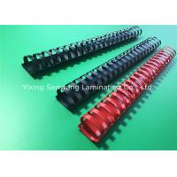 Quality Red / Black Book Binding Combs Round Shape 19 Rings 32MM Diameter for sale
