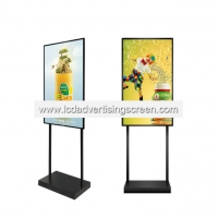 China 43 Inch Floor Standing Vertical Lcd Advertising display Mobile electronic digital sign advertising machine on sale