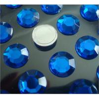 Wholesale round shape flat back rhinestone sticker loose stone self stick 3d sticker from china suppliers