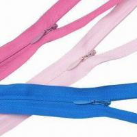 Wholesale Nylon Invisible Zippers with Water-drop Slider from china suppliers