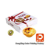 Wholesale Environmental Square Paper Food Boxes Egg Tart Window Paper Box from china suppliers