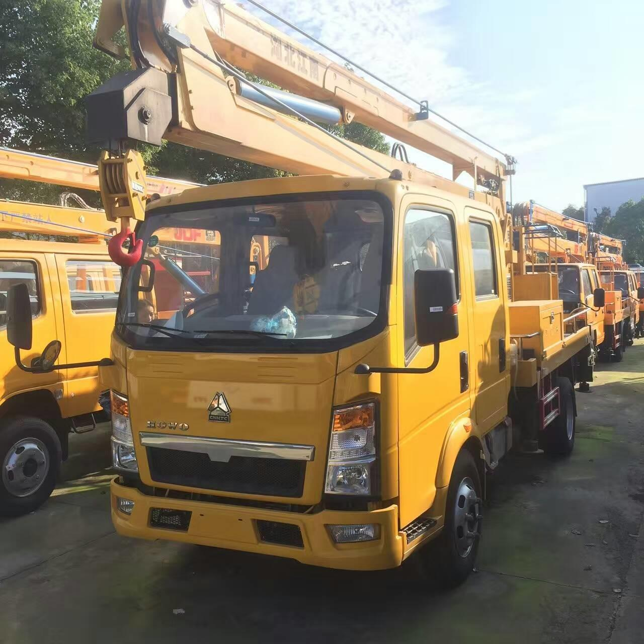 Quality HOWO light duty 16-18m overhead working truck for sale, factory sale best price SINO TRUK HOWO hydraulic bucket truck for sale