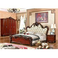 Wholesale A6007; leather bed, bedroom set,Royal style bedroom furniture,hotel furnitue,bed side table,dresser,Night stand,wardrobe from china suppliers