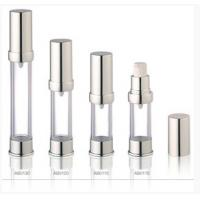Wholesale Silver Acrylic Airless Bottles Plastic Cosmetic Lotion Containers from china suppliers