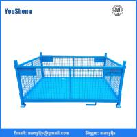 Quality Collapsible mesh box wire cage durable metal bin storage container for sale