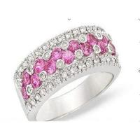 Wholesale Diamond & pink topaz ring from china suppliers