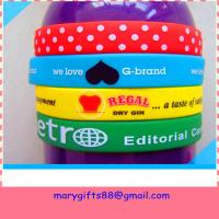 Wholesale printed   silicone bracelet bangles from china suppliers