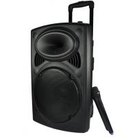 Quality Plastic Rechargeable Portable Trolley Speakers With Wireless Microphone for sale
