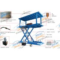 Scissor hydraulic 2 level underground parking car lift