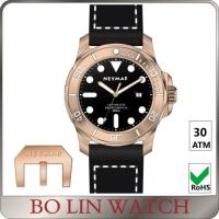 Wholesale ETA 2824 Swiss Automaic Mens Bronze Watch For Diver 50 Atm WaterProof from china suppliers