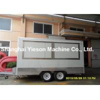 Wholesale Double Axle Custom Concession Mobile Ice Cream Trailers With Braking System from china suppliers