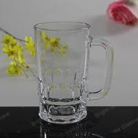 Wholesale machine press glass beer mug, glass tumbler with handle from china suppliers
