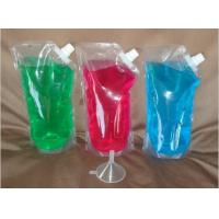 Wholesale PE PET NY Clear Self Standing Liquid Spout Bags , Beverage Corner Spout Pouch from china suppliers