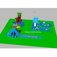 China Children Big Dragon Inflatable Water Parks With Blue Water Pool Colorful Strong on sale