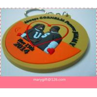 Quality 2014 fashionable 3D wedding pvc key rings custom manufacturer for sale