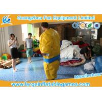 China 1.5m / 1.8m 0.4mm PVC Inflatable Sumo Wrestling Suit Yellow foam padded mattress for games on sale