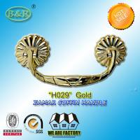 Wholesale Coffin Handle, metal Funeral Accessories And Hardware zamak H029 gold color 19.5*8.5cm from china suppliers