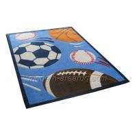 Buy cheap Children Playroom Floor Area Rugs Carpets, Blue Acrylic Kids Play Rug For Boys from wholesalers