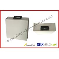 Wholesale Custom Big White Display Gift Packaging Boxes With Black EVA Holder And Hook from china suppliers