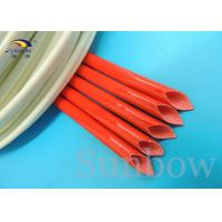 Wholesale silicone fibre glass sleeves Silicone fiberglass sleeving for wire harness insulation from china suppliers