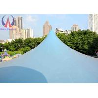 Quality Blue Large Shade Structures Tensile Fabric Architecture For Outdoor Sports Sun Proof for sale