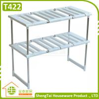 Wholesale Household Good Helper Multilayer Kithchen Stainless Steel Telescopic Storage Shelf from china suppliers