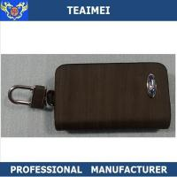 Wholesale Russety / Yellow Genuine Leather Key Holder For Ford VW / Changcheng Logo from china suppliers