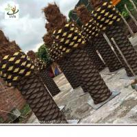 Wholesale UVG PTR056 big artificial tree trunk with fake coconut palm trees for park landscaping from china suppliers