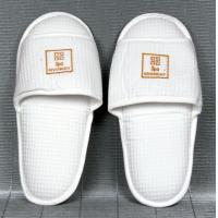 Wholesale Hotel Amenities custom embroidered Logo cotton, waffle and non woven Hotel Slipper from china suppliers