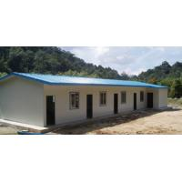 Buy cheap Africa hot sale Modular Sandwich panel single storey/two storey prefab office building house from wholesalers
