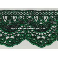 Wholesale 10 Inch Scalloped Edge Lace Trim / Garment Green Chemical Crochet Lace Trim from china suppliers